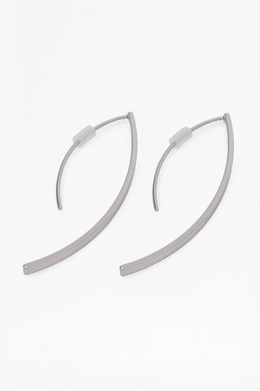 Complete the Look Elongated Curved Tube Earrings