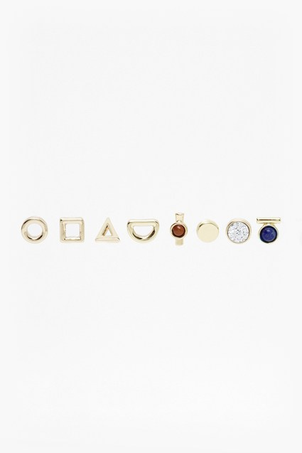 Mismatch Stud Earring Set