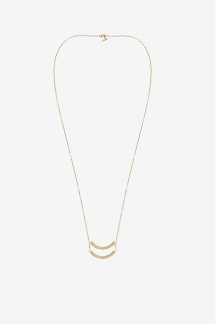 Double Curved Tube Necklace