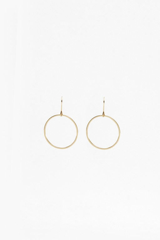 Core Thin Circle Hoop Earrings