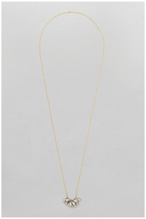 Pave Cluster Long Necklace