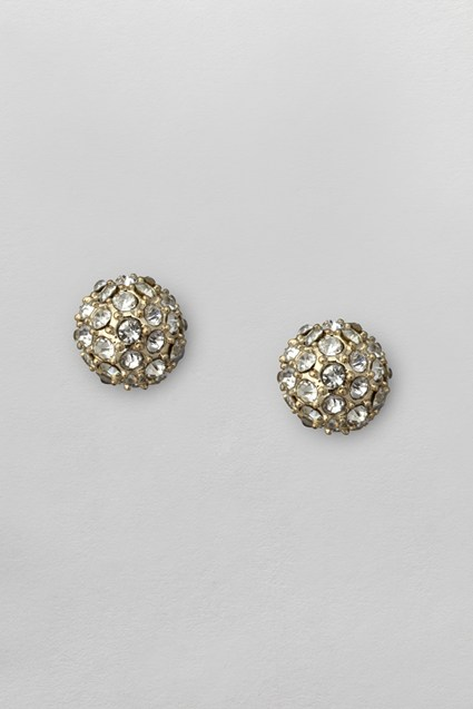 Pave Ball Stud Earrings
