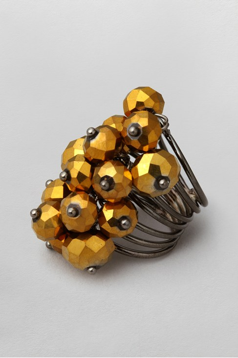 Faceted Bead Cluster Ring