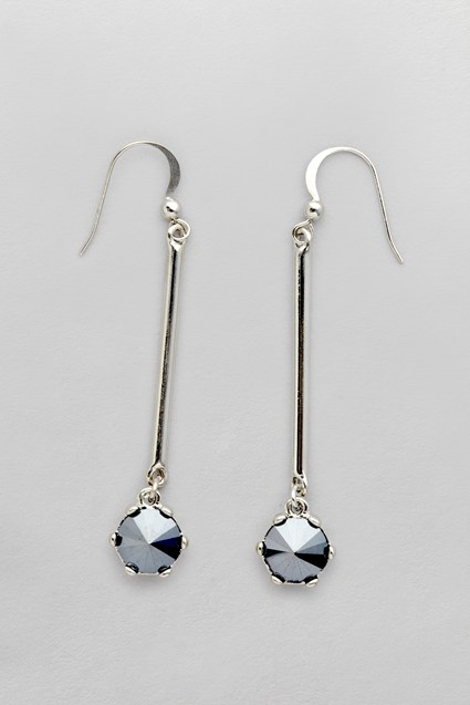 Facet Stone Drop Earrings