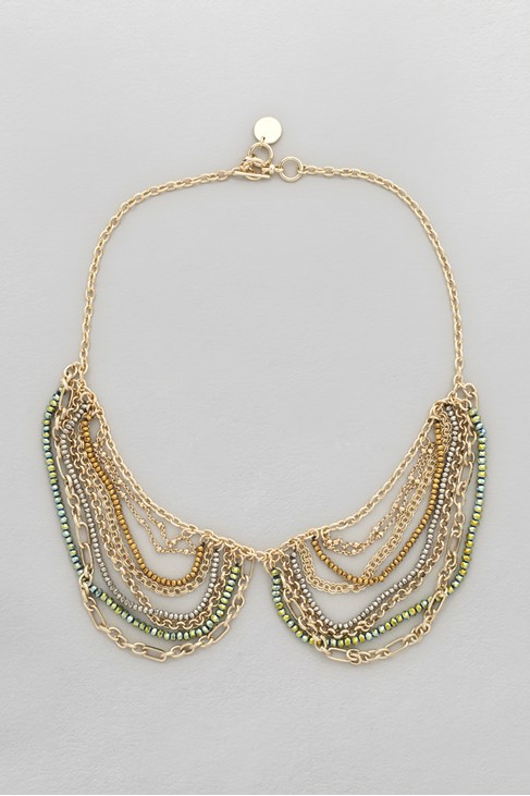 Faceted Bead & Chain Collar