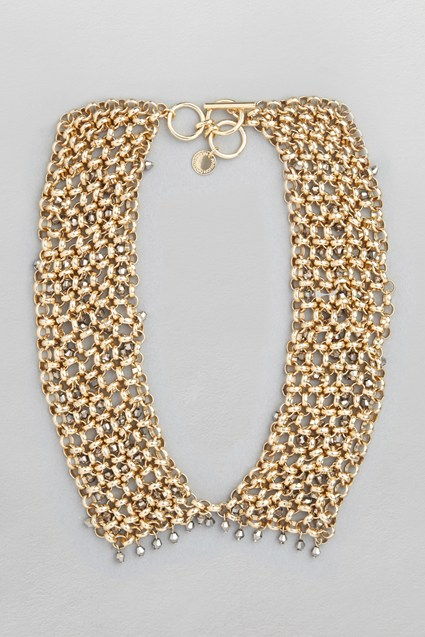 Bead and Mesh Collar Necklace