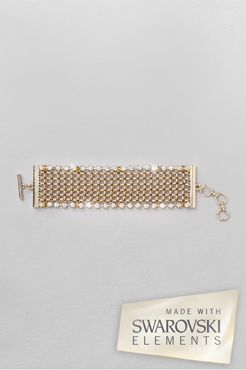 Chainmail and Crystal Bracelet