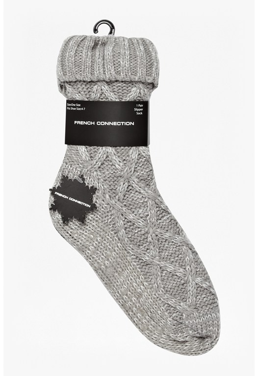 Sam Knitted Fur Socks