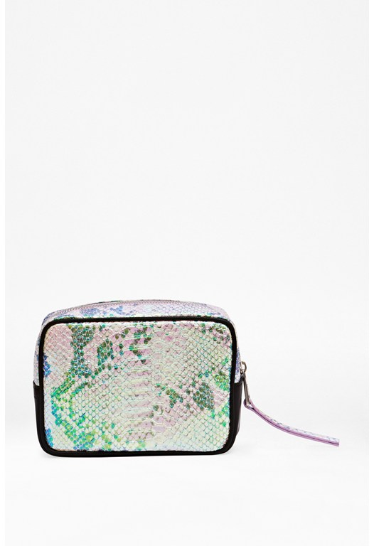 Large Iridescent Make-Up Bag