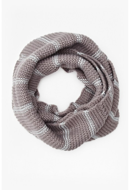 Gabby Metallic Knitted Scarf