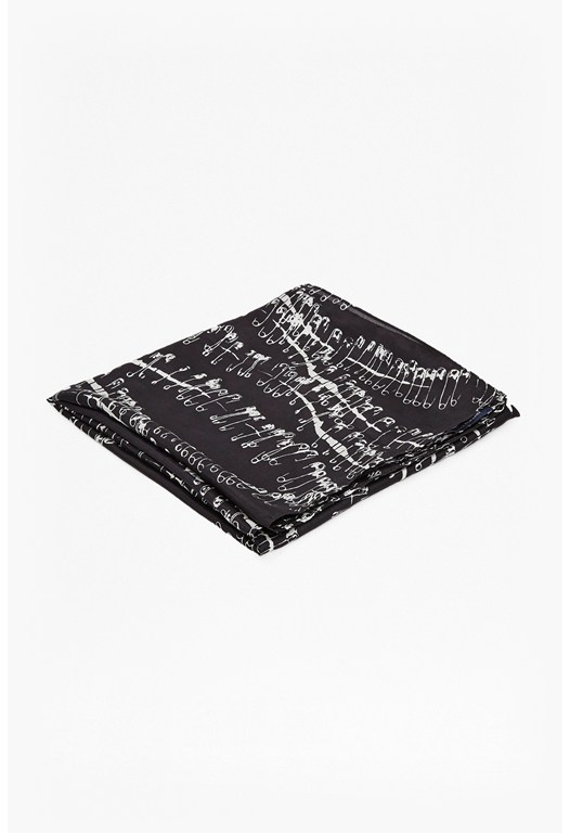 Robbin Anarchy Pin Silk Scarf