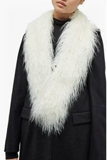 Looks Great With Portia Faux Mongolian Fur Collar
