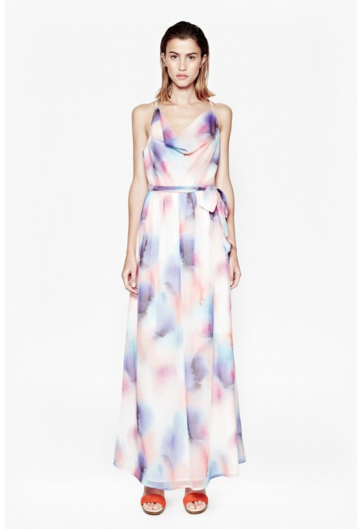 Soft Spray Maxi Dress