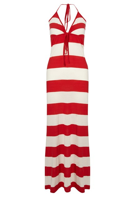 Sun and Sea Striped Maxi Dress