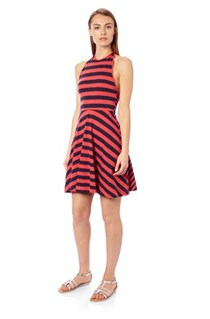 Serenity Stripe Halter Dress