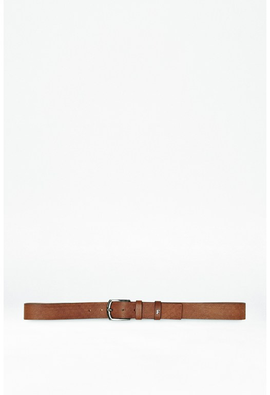 Geo Embossed Leather Belt
