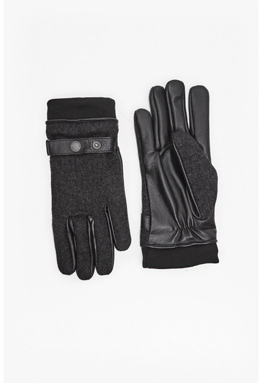 Wool and Leather Gloves