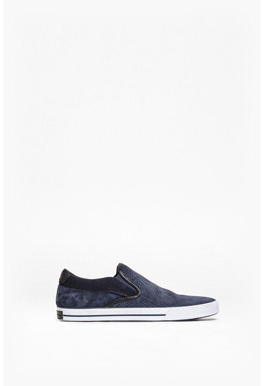 Calsio Suede Slip On Trainers