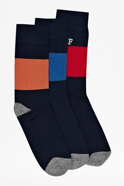 Three Pack Ace Block Socks