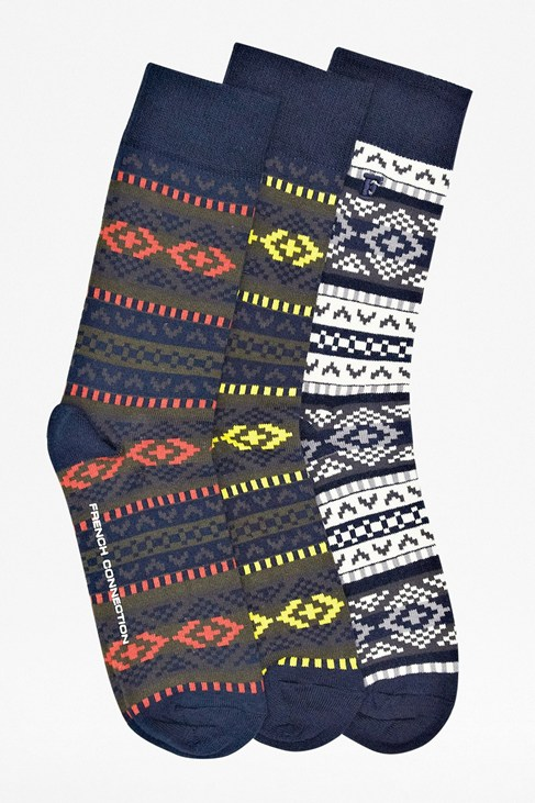 Hommer All Over Fairisle Socks