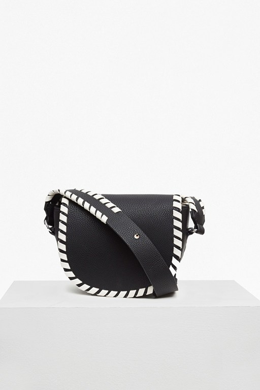 Complete the Look Claudia Whipstitch Saddle Bag