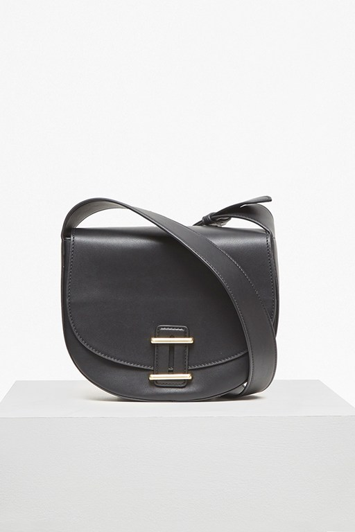 Complete the Look Contemporary Slide Lock Cross Body Bag