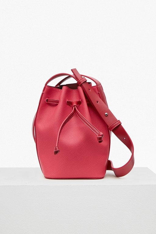 Complete the Look Saffiano Chelsea Mini Bucket Bag