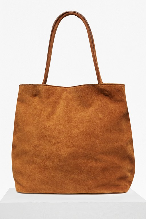 soft suede lottie suede tote bag