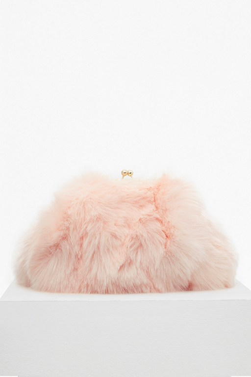 Complete the Look Fisola Fur Clutch Bag
