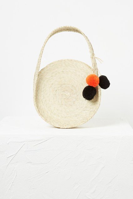 Kai Mini Palm Leaf Circle Bag
