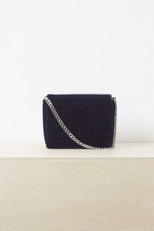 rafa quilted velvet cross body bag