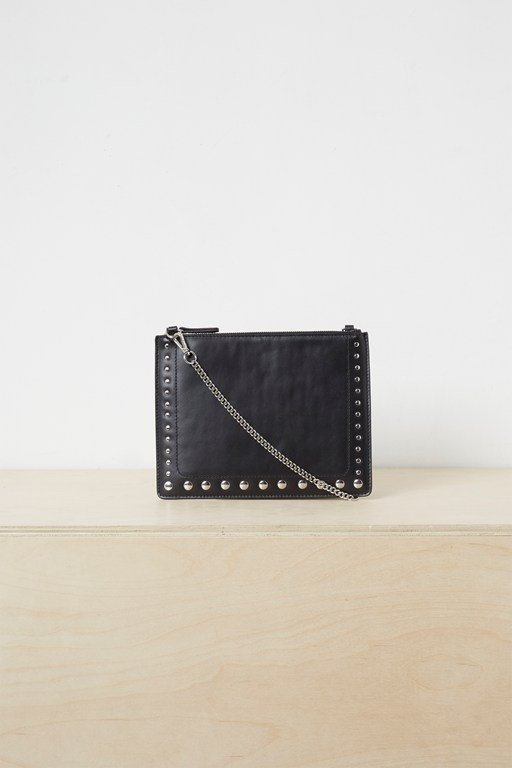 Complete the Look Eeva Studded Leather Shoulder Bag