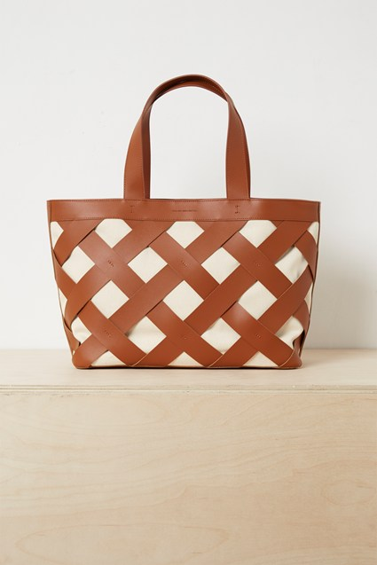 Troy Recycled Leather Canvas Bag