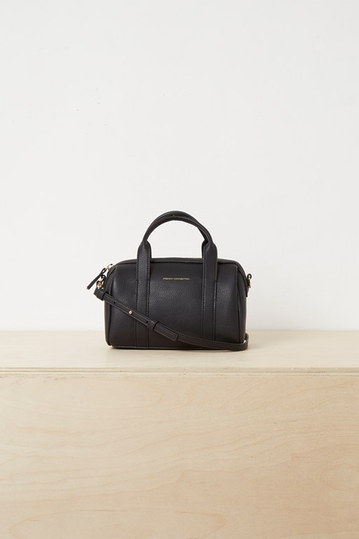 roma recycled leather mini bowling bag