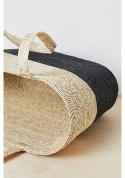 Summer Block Color Straw Tote