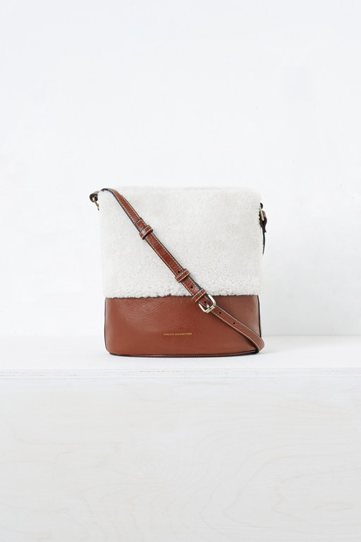 Complete the Look Shearling Mini Bucket Bag