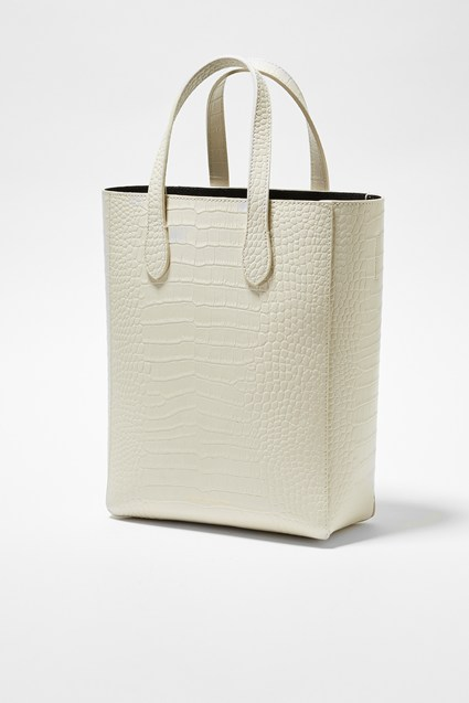 Moa Croc Recycled Leather Tote
