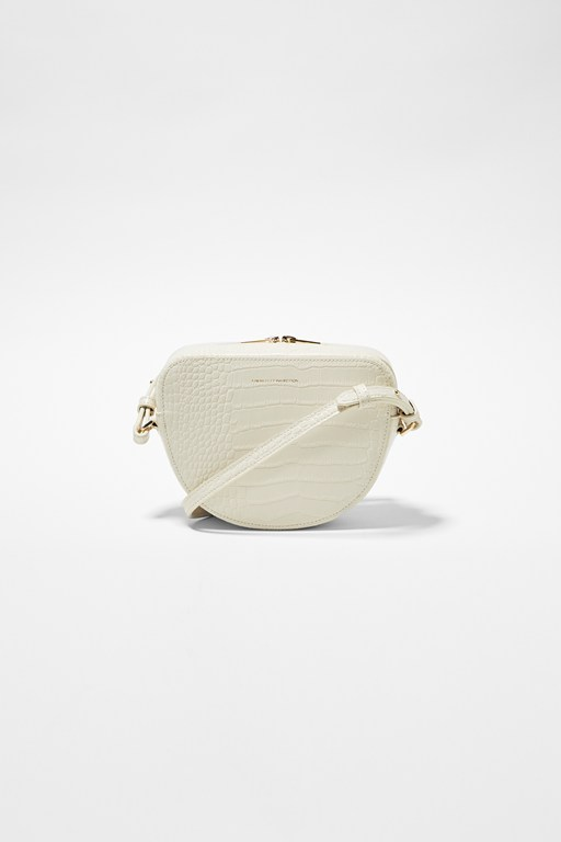 Complete the Look Talin Recycled Leather Half Moon Crossbody
