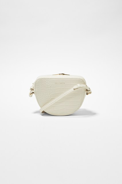Talin Recycled Leather Half Moon Crossbody