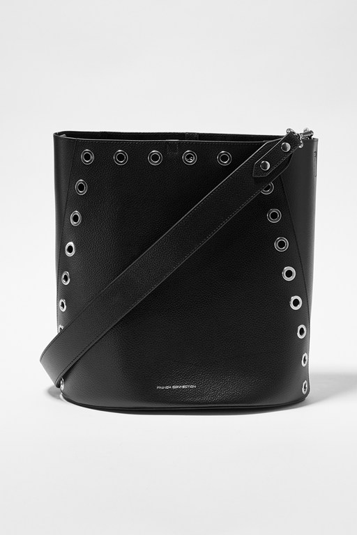 Complete the Look Esi Studded Bucket Bag