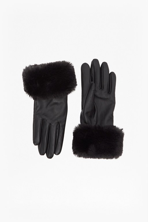 fur trim gloves