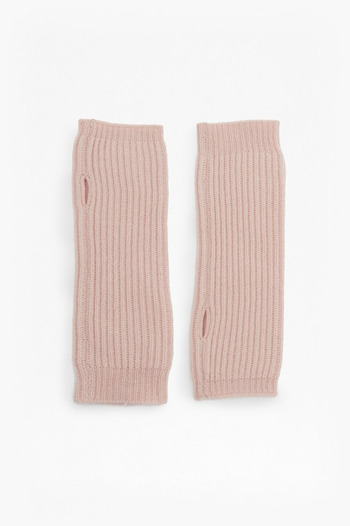 cashmere rib hand warmers