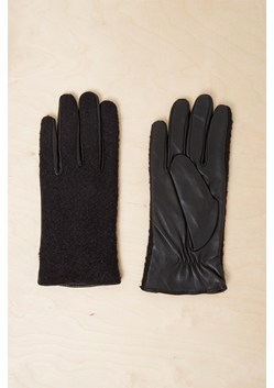 Lara Leather Panelled Gloves