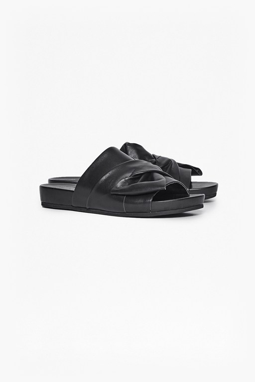 Complete the Look Shida Bow Leather Sliders