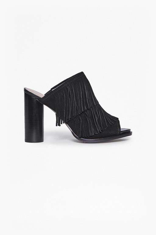 Complete the Look Uriah Fringed Suede Mules
