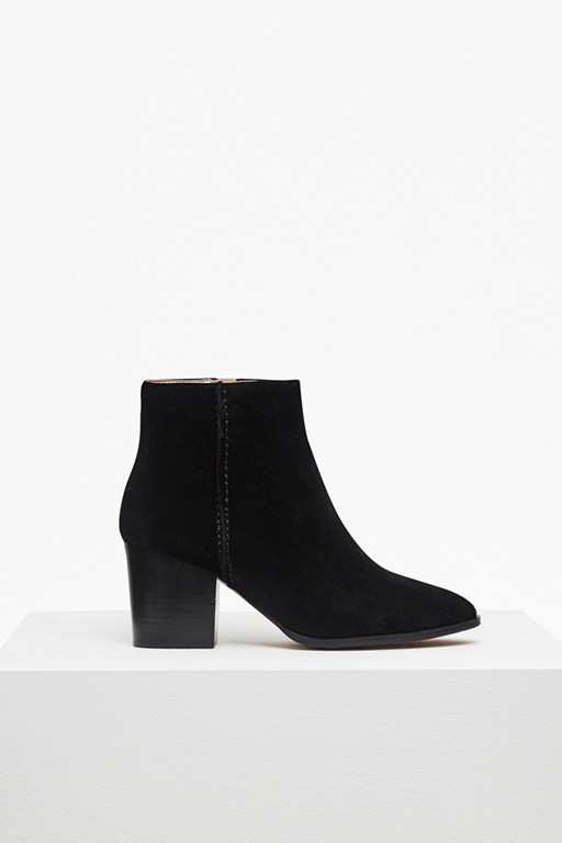 Complete the Look Banji Heeled Suede Ankle Boots