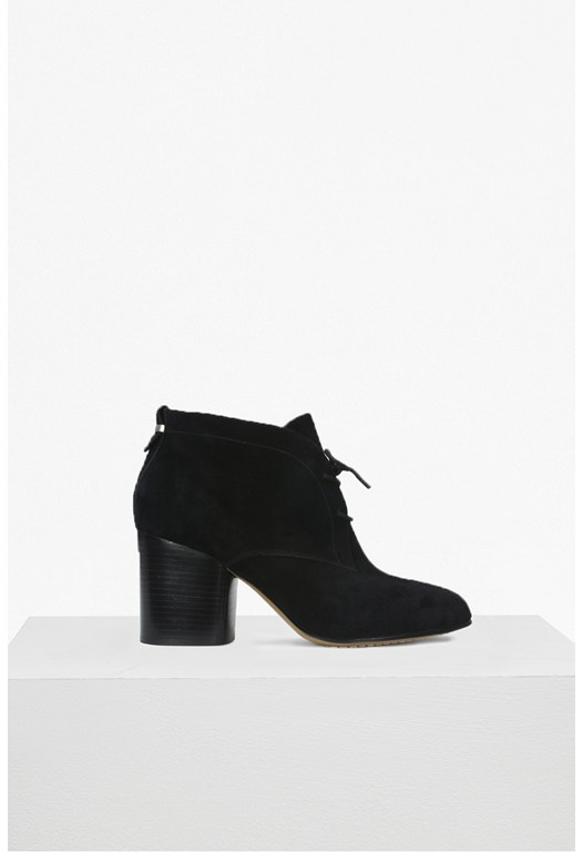 Dinah Lace Up Suede Bootie
