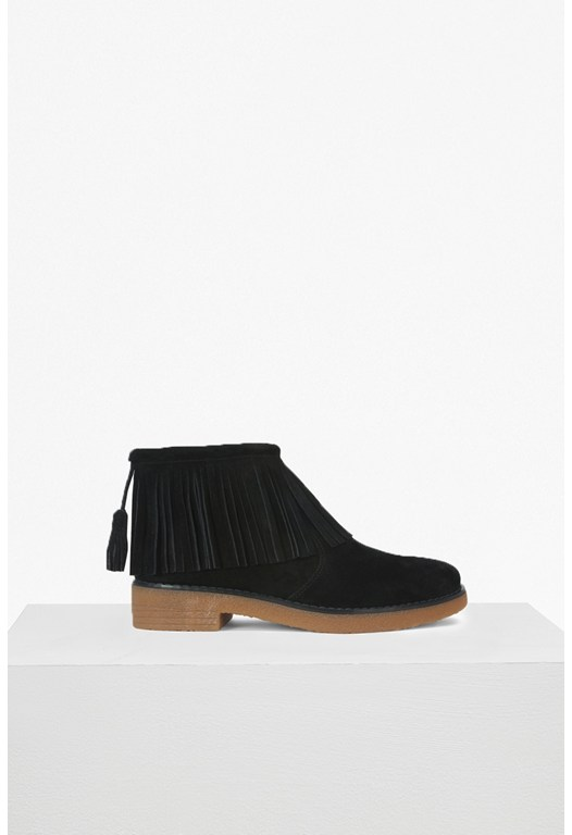 Vanessa Fringed Suede Boots