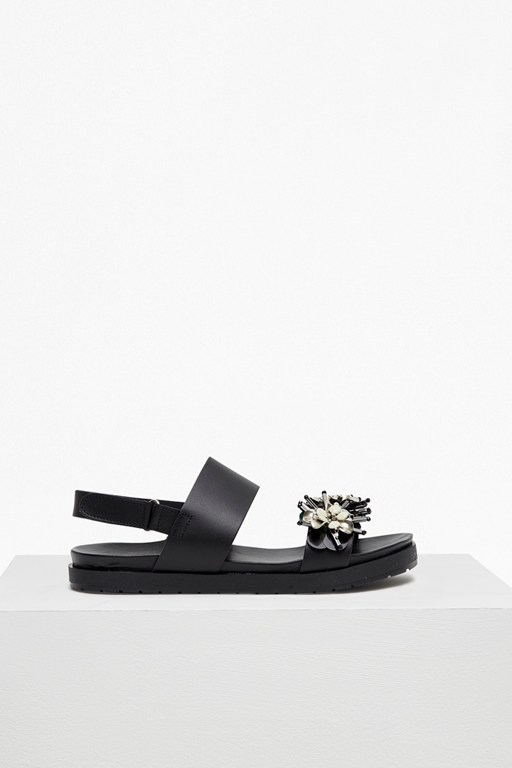 joanne jewelled faux leather sliders
