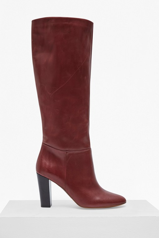 francesca knee high leather boots